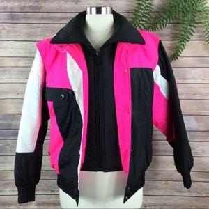 Vintage Downhill Racer Color Block Ski Snow Jacket